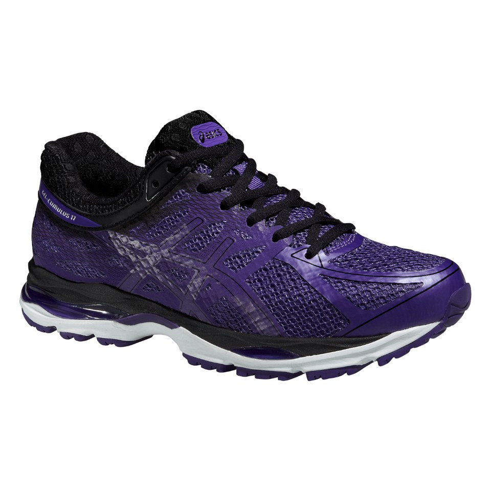 cf424fccaff64 Asics Women s Gel Cumulus 17 Lite Show Running Shoes - Purple Black ...