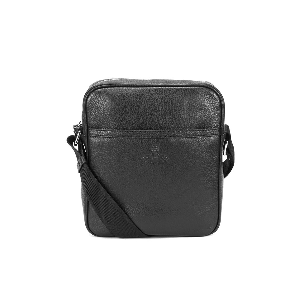 a4b1ef40e23b Vivienne Westwood MAN Men s Leather Small Cross Body Bag - Black - Free UK  Delivery over £50