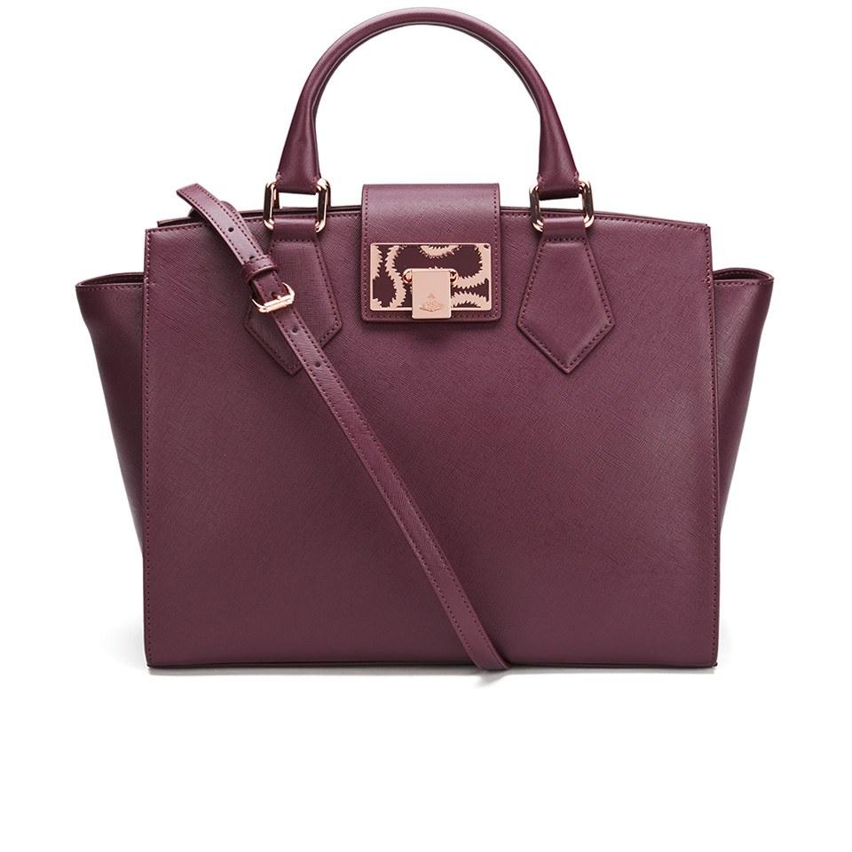 599182fc60 Vivienne Westwood Women's Opio Saffiano Tote Bag - Bordeaux - Free ...