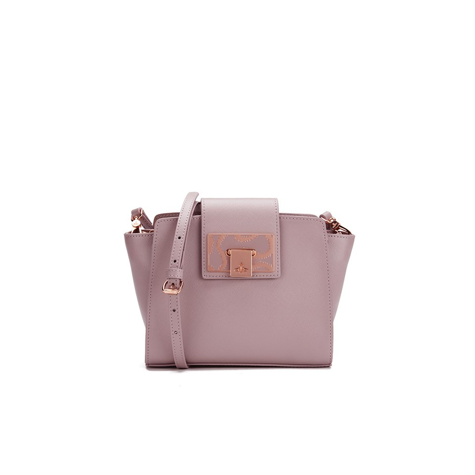 5bd389e90c6a Vivienne Westwood Women s Opio Saffiano Crossbody Bag - Pink - Free ...