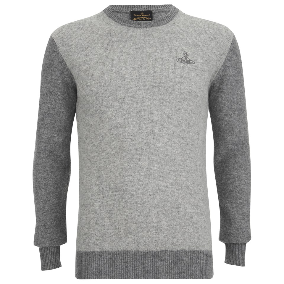 b74044cf75f ... Vivienne Westwood Anglomania Men's Classic Round Neck Knitted Jumper -  Grey