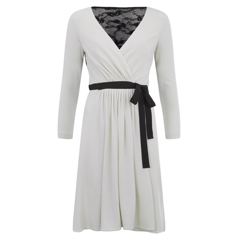 8592f22bcd7b ... Diane von Furstenberg Women's Seduction Wrap Dress - Ivory/Black