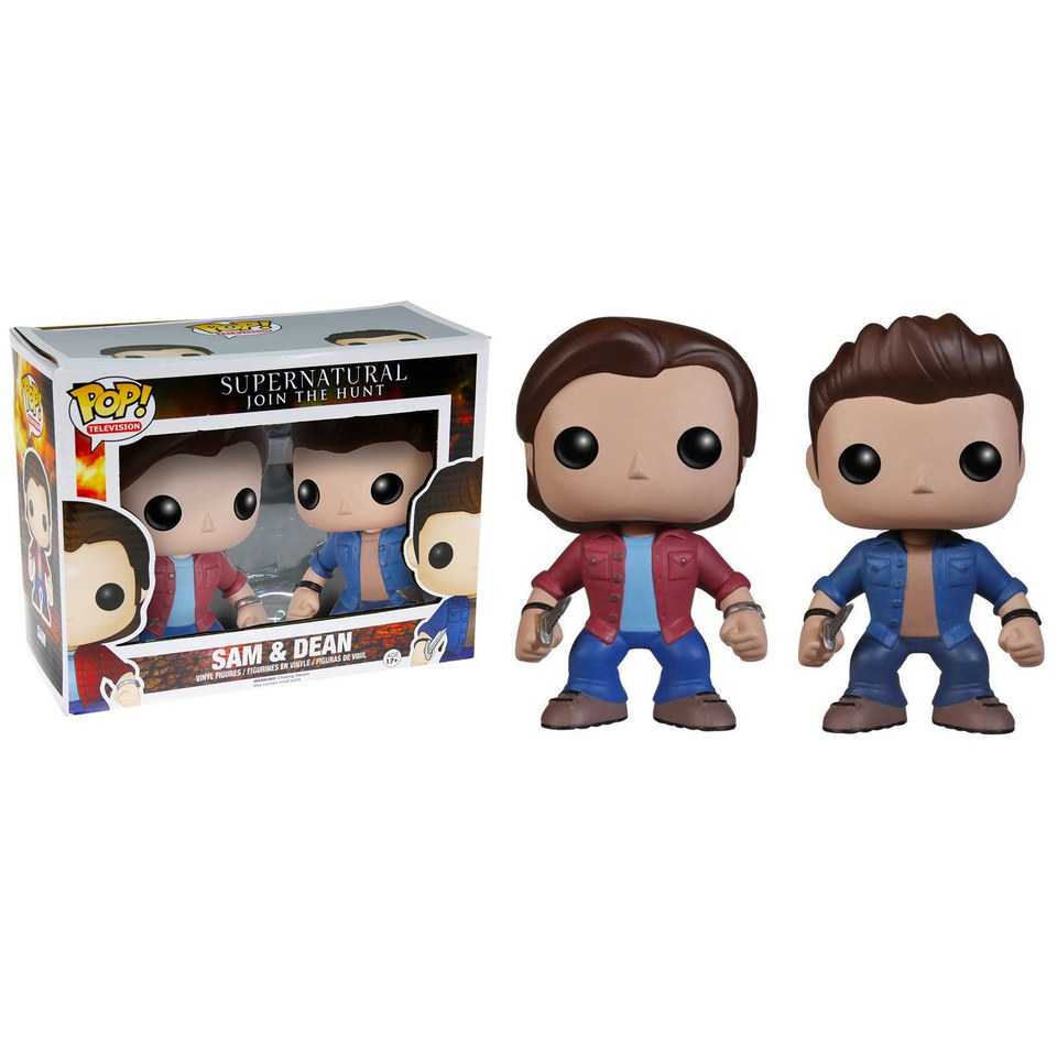 Supernatural Sam & Dean 2-Pack Pop! Vinyl Figures