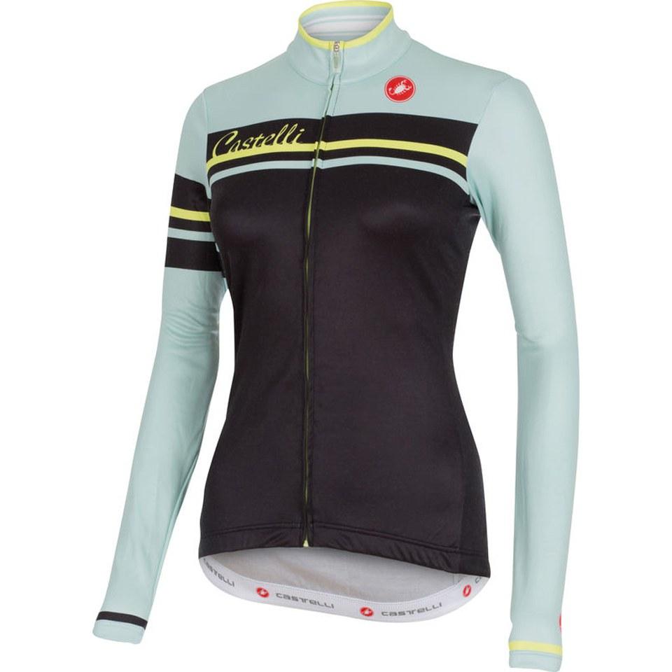 965407b18 Castelli Women s Girone Long Sleeve Jersey - Black Green