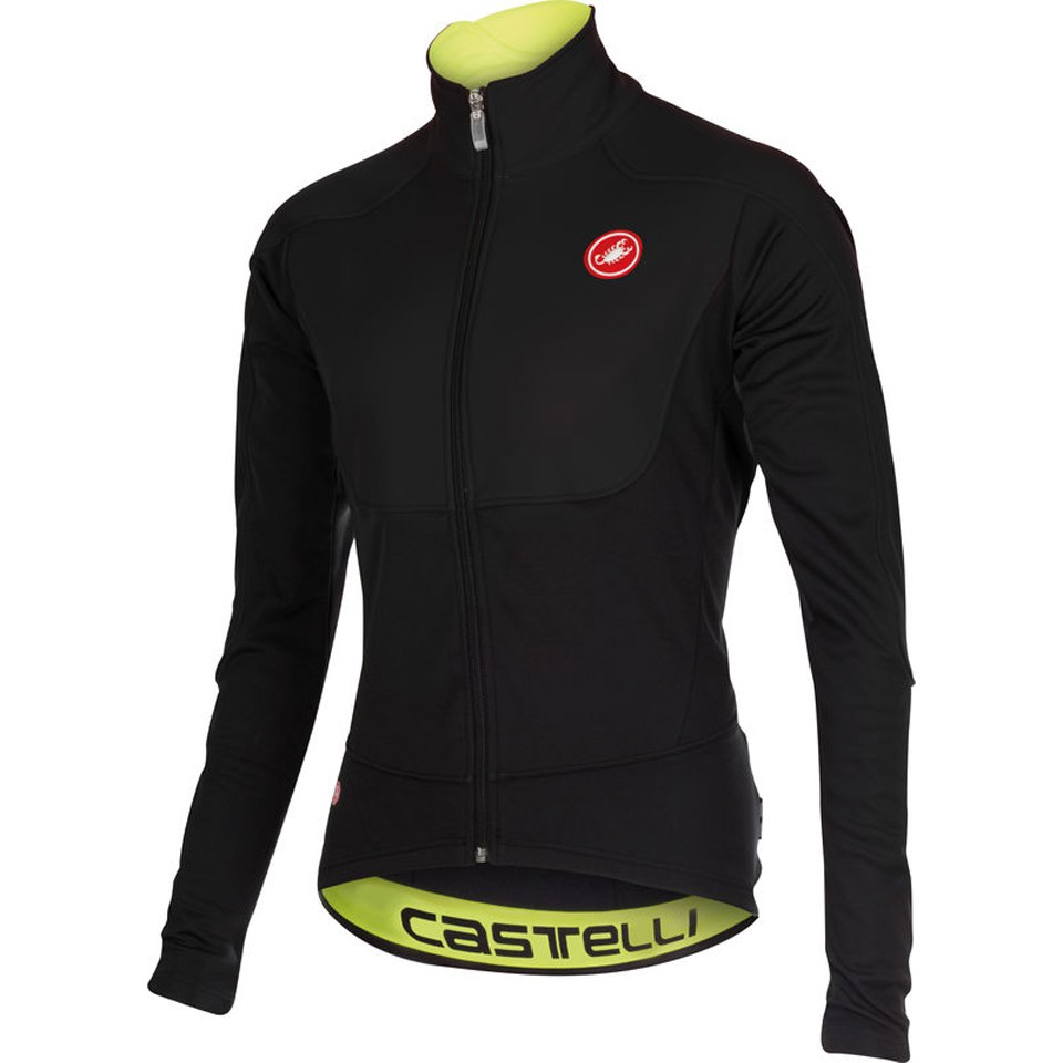 Castelli Passo Giau Jacket - Black/Yellow