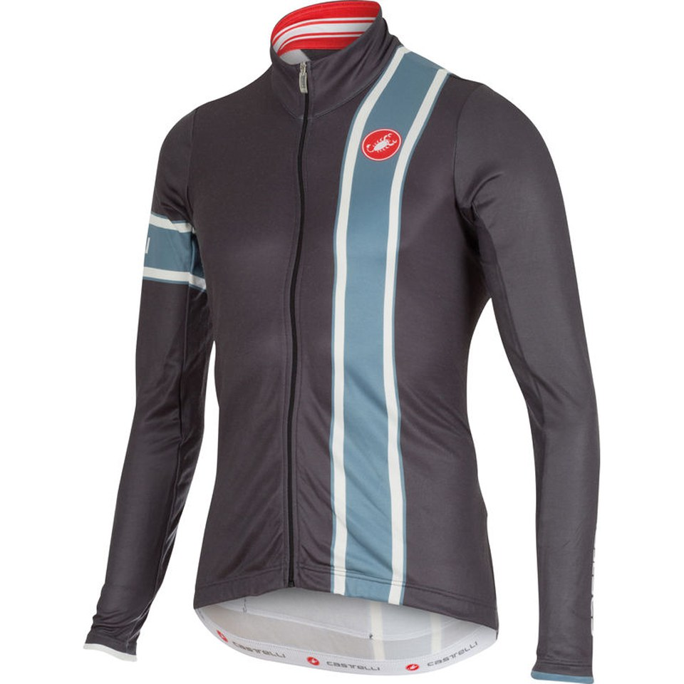 Castelli Storica Long Sleeve Jersey - Grey/Blue