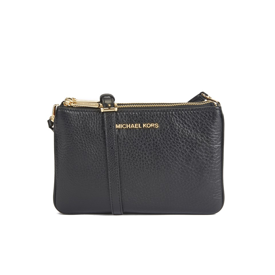 4c826432d2edc5 MICHAEL MICHAEL KORS Women's Bedford Gusset Cross Body Bag - Black - Free  UK Delivery over £50