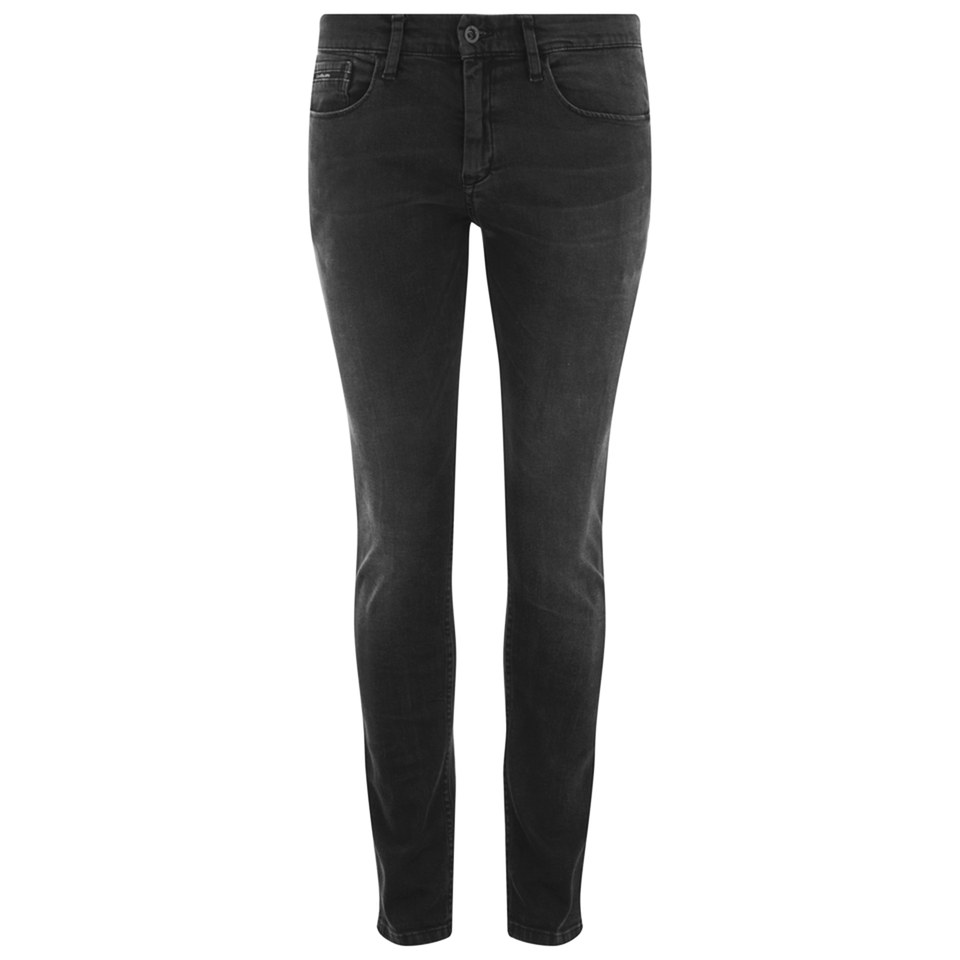 Calvin klein men 39 s skinny fit jeans shadow black stretch for Calvin klein slim fit stretch shirt