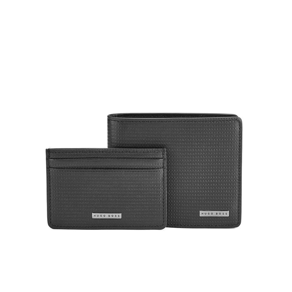 06874b04edd BOSS Hugo Boss Men's Gauco Leather Wallet Gift Set - Black Mens ...