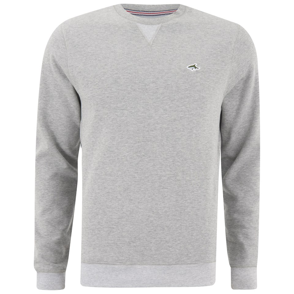 d214eb11847e Le Shark Men's Crew Neck Sweatshirt - Light Grey Marl Mens Clothing ...