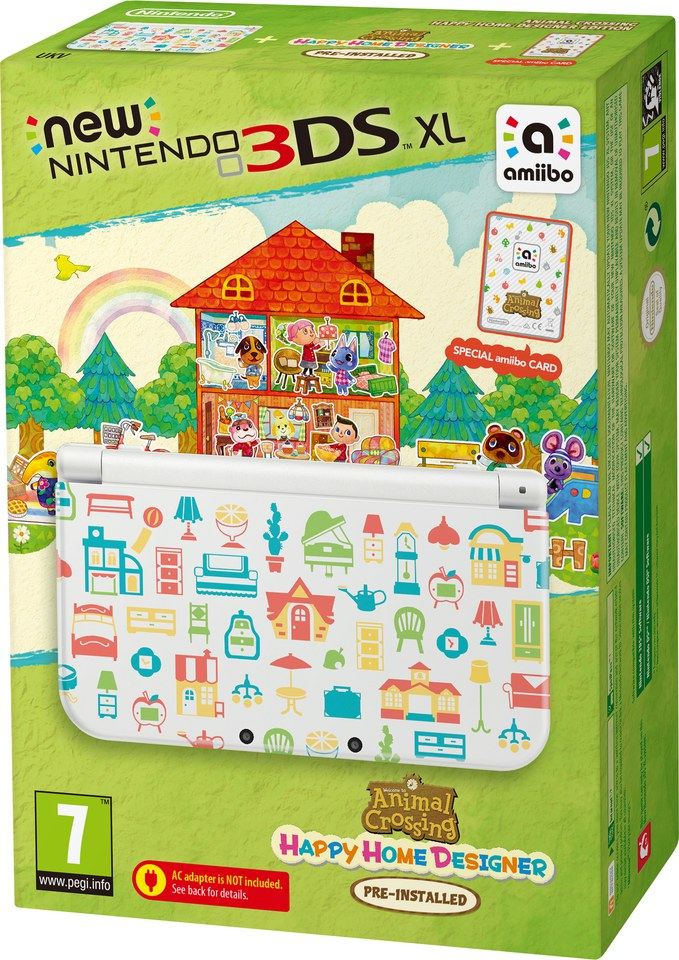 New Nintendo 3ds Xl Includes Animal Crossing Happy Home Designer