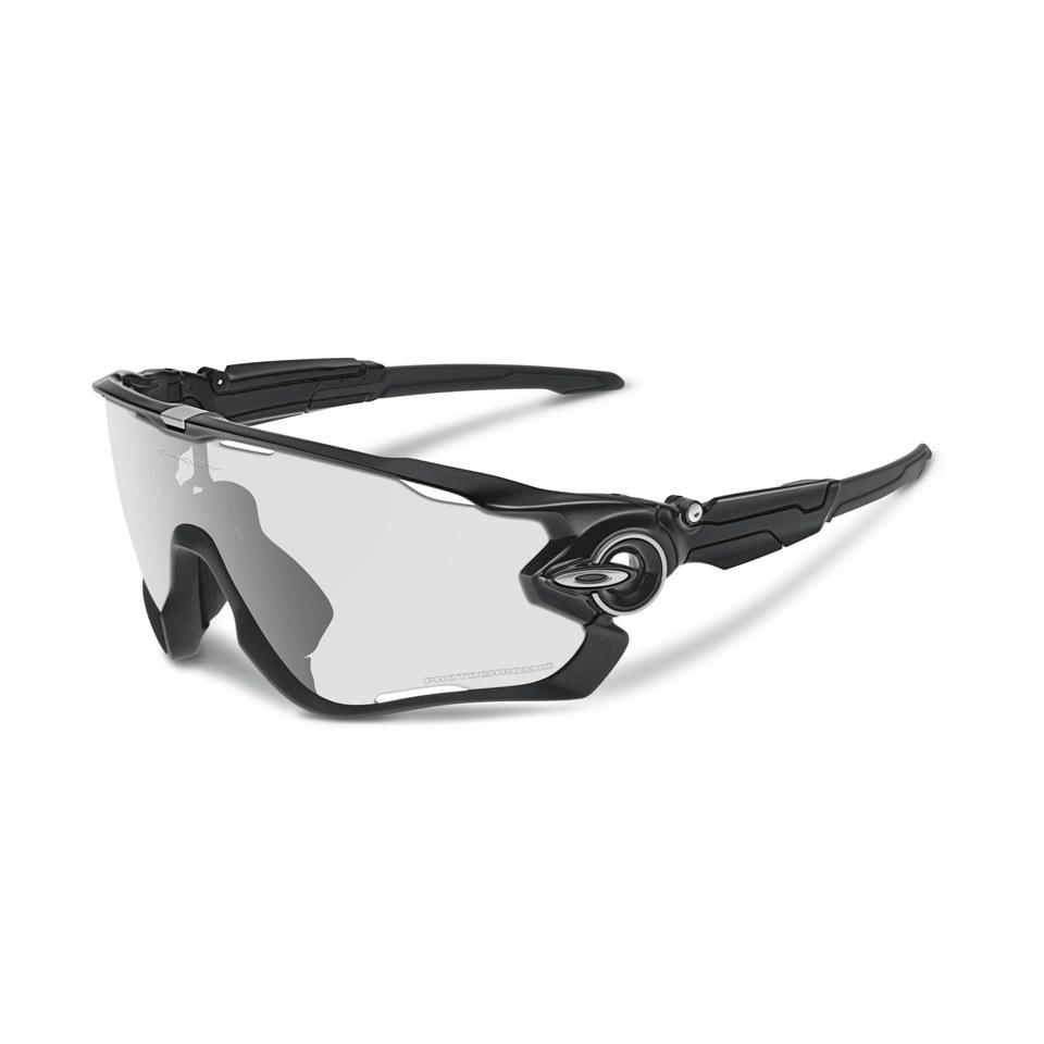 Oakley Jawbreaker Photochromic Sunglasses - Polished Black/Clear ...