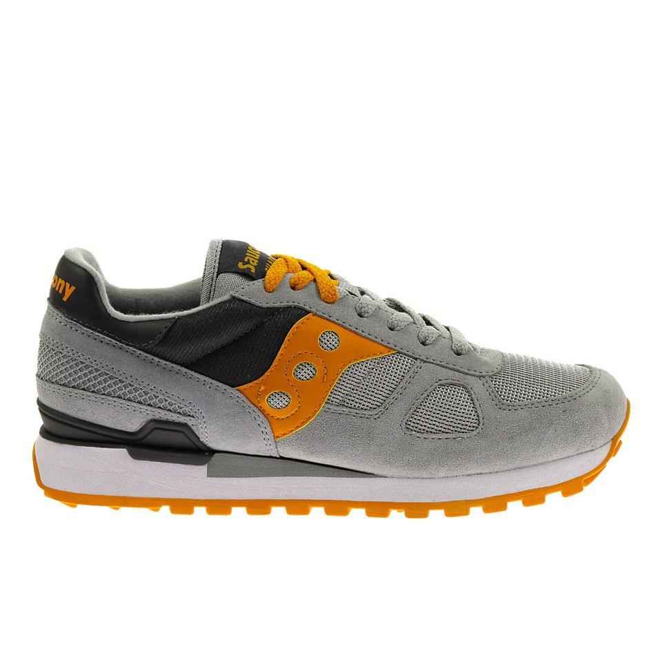 san francisco 75bb6 297e8 Saucony Men's Shadow Original Trainers - Light Grey/Orange