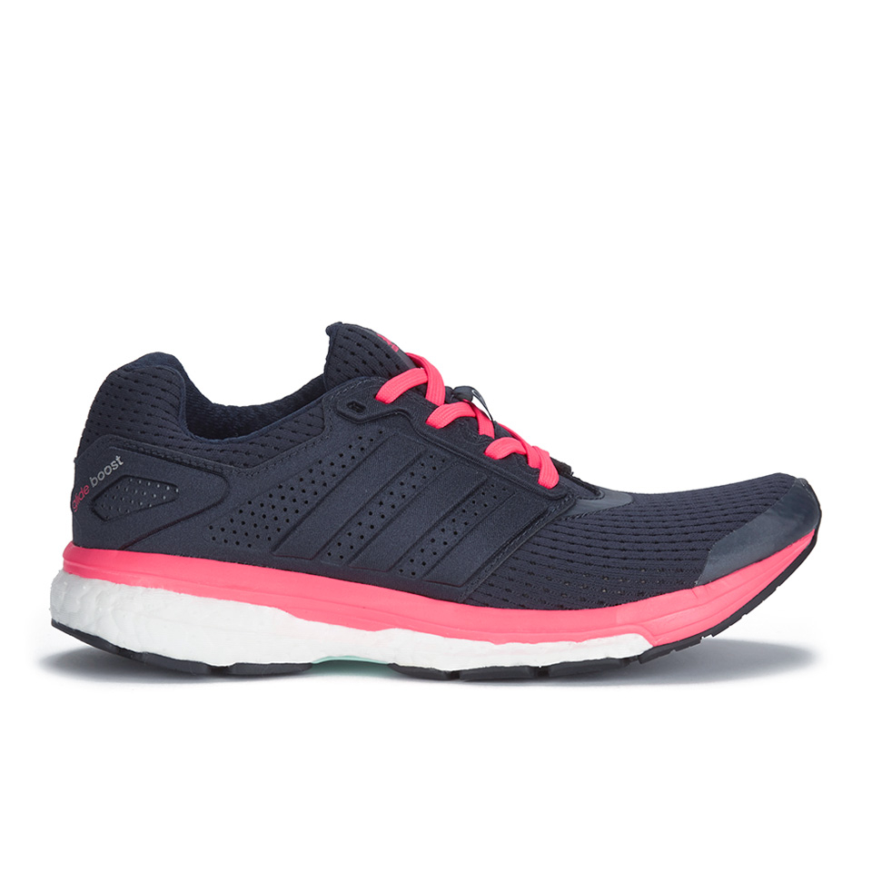 e2e160fe9e616 adidas Women s Supernova Glide Boost 7 Running Shoes - Navy Pink ...