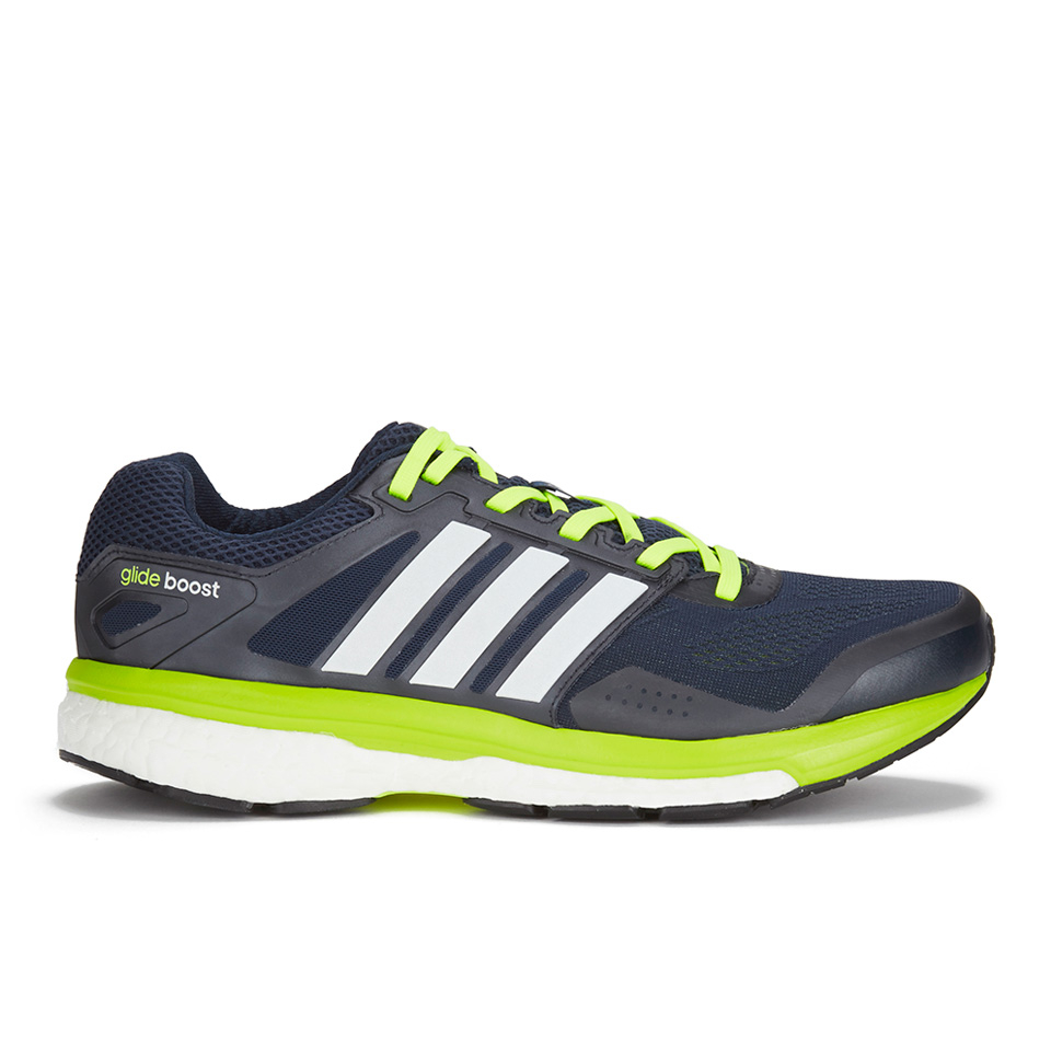 94845a31f adidas Men s Supernova Glide Boost 7 Running Shoes - Navy White Yellow