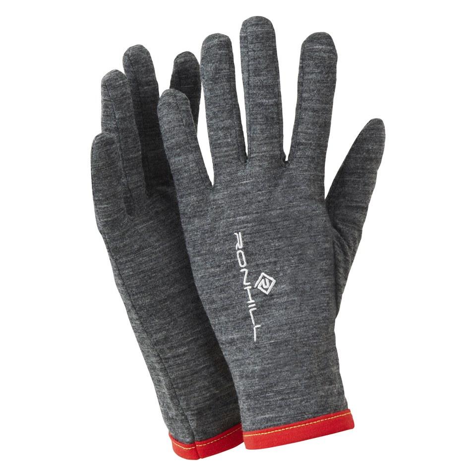 Lill Sport Gloves Canada: RonHill Merino 200 Glove - Grey/Red