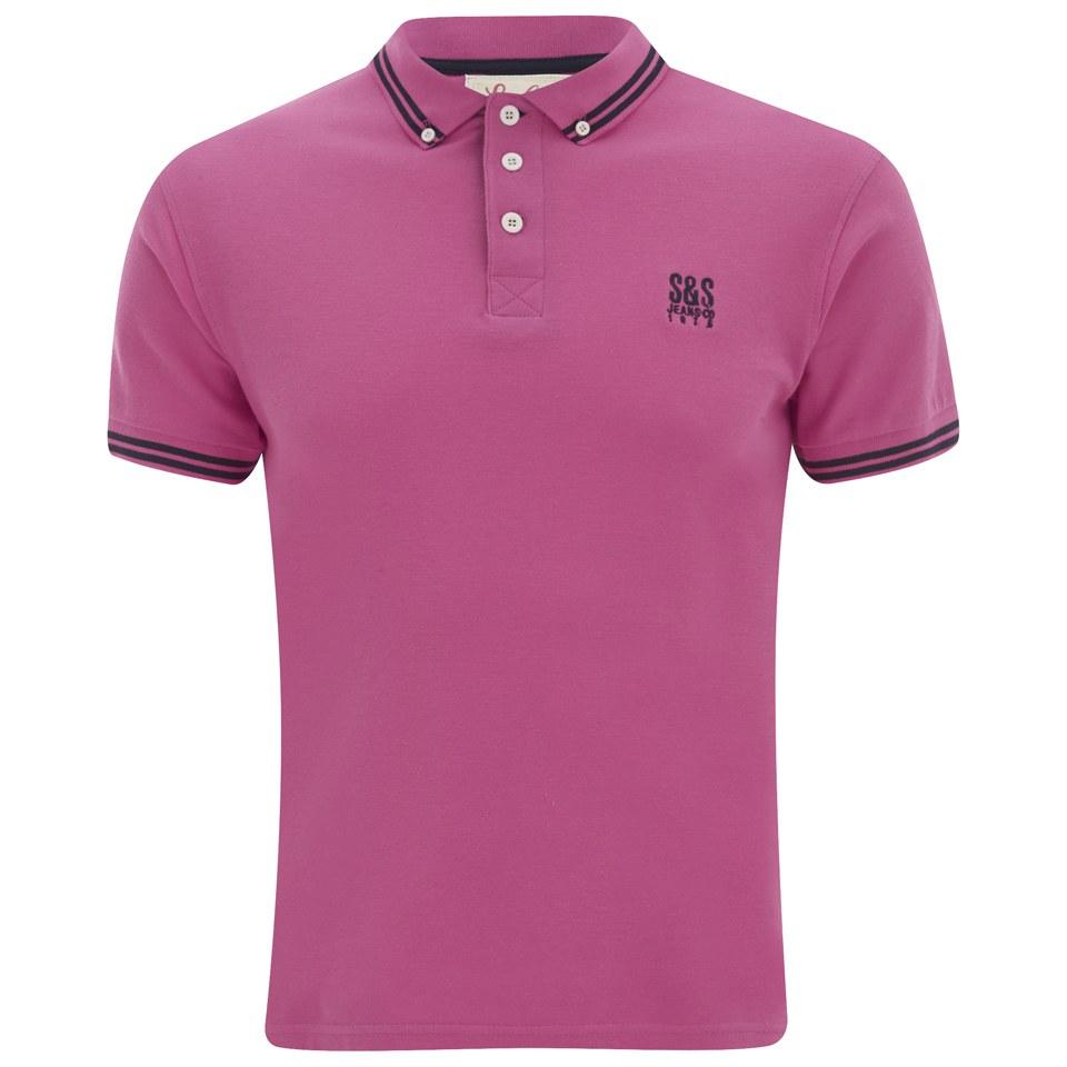 Soul Star Men 39 S Ralling Polo Shirt Pink Clothing