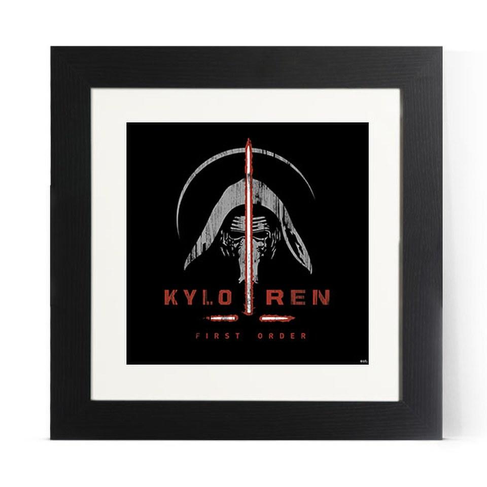 Impresión Enmarcada Star Wars El Despertar de la Fuerza Kylo Ren ...