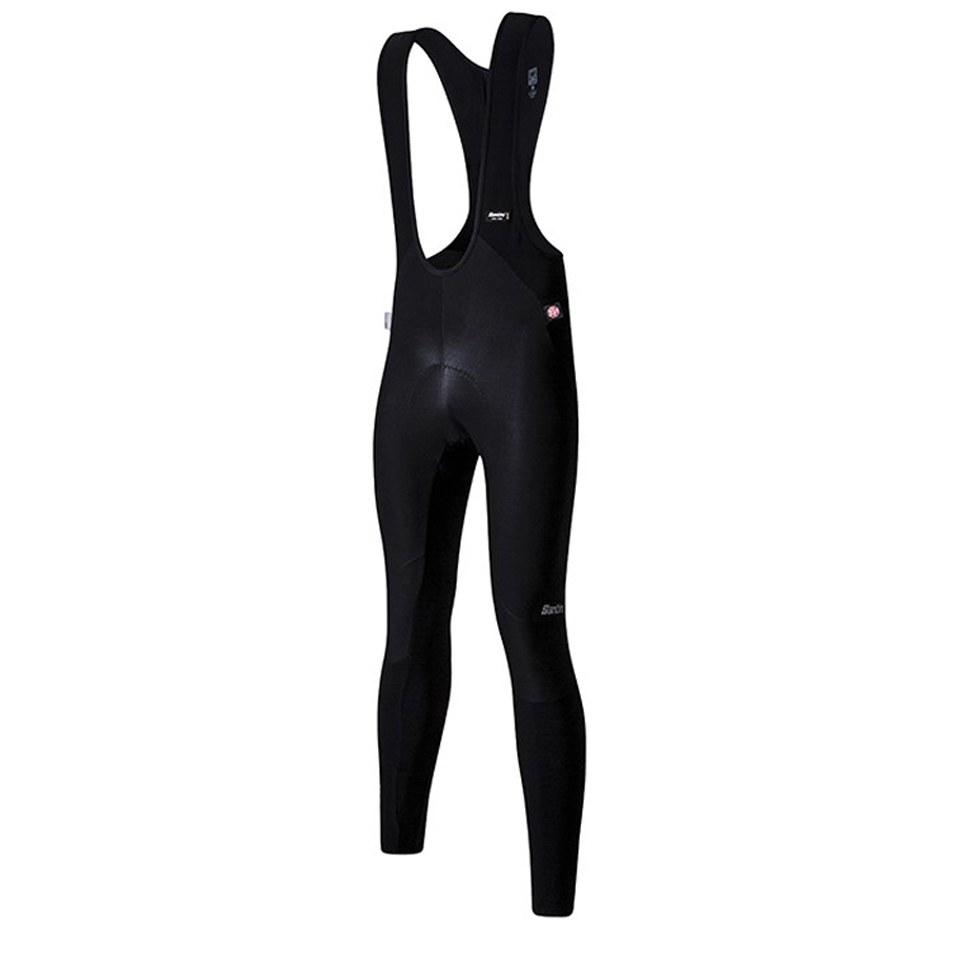 Santini Jupiter Windstopper Bib Tights - Black