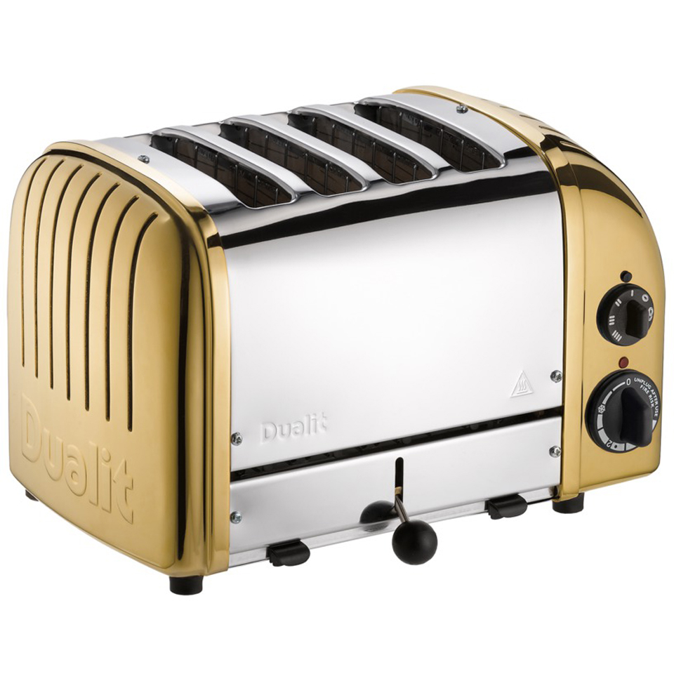 Dualit 47452 Classic Vario 4 Slot Toaster - Brass