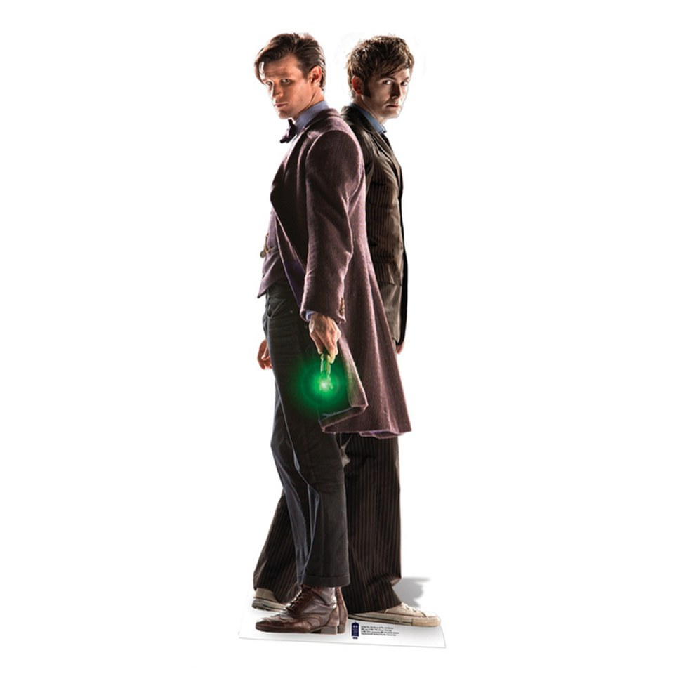 Doctor Who The 10th and 11th Doctor 50th Anniversary Special Cut Out