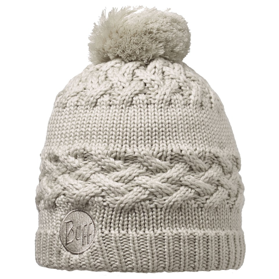 Buff Knitted and Polar Savva Hat - Cream