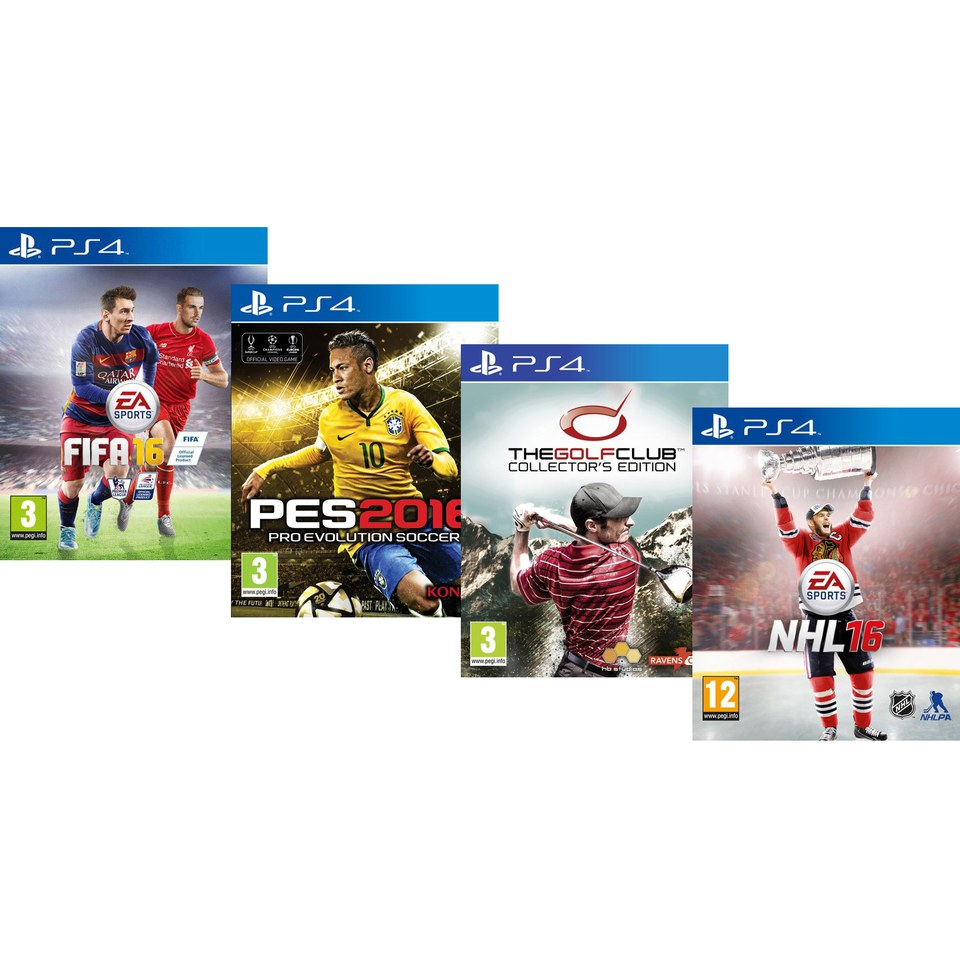 Ultimate Sports Bundle – Includes FIFA 16, The Golf Club Collector's  Edition, NHL 16 & PES 16