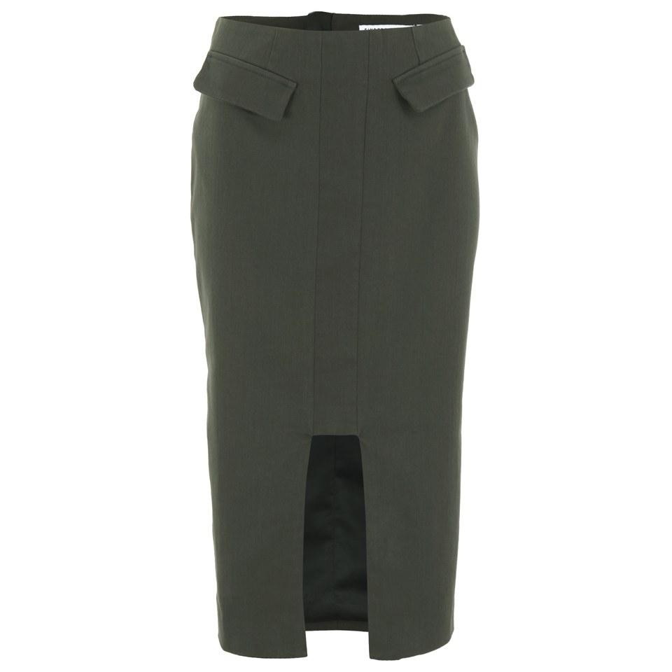 472592833af1 Finders Keepers Women s Shapeshifter Midi Skirt - Khaki - Free UK ...