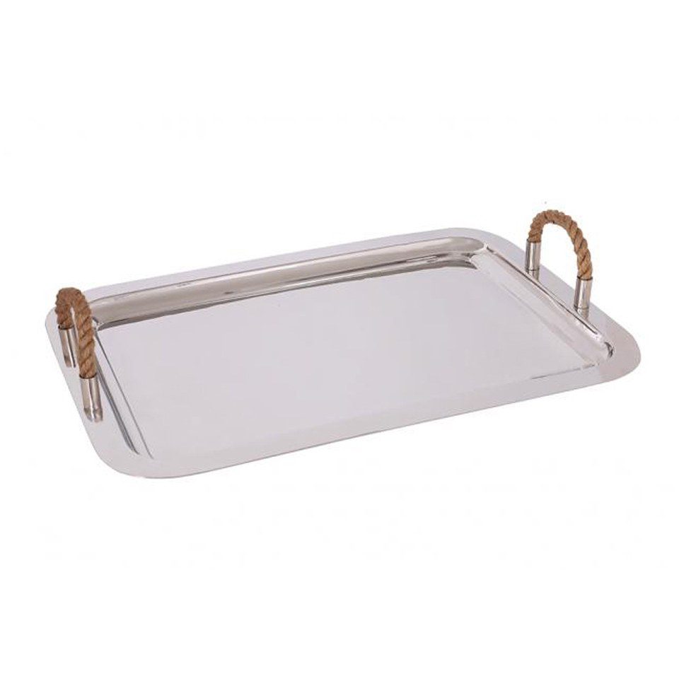 Large Polished Stainless Steel Tray