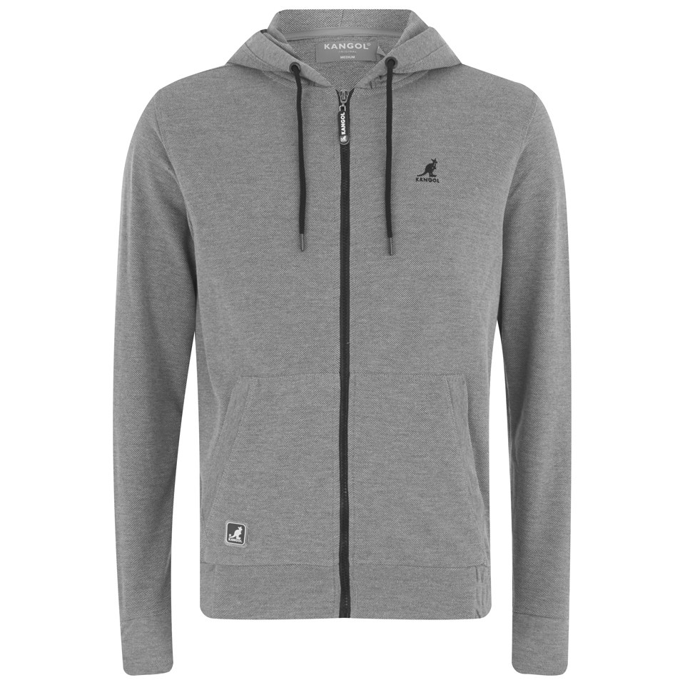 51dedff9 Kangol Men's Buckley Zip Through Pique Hoody - Grey Mens Clothing ...