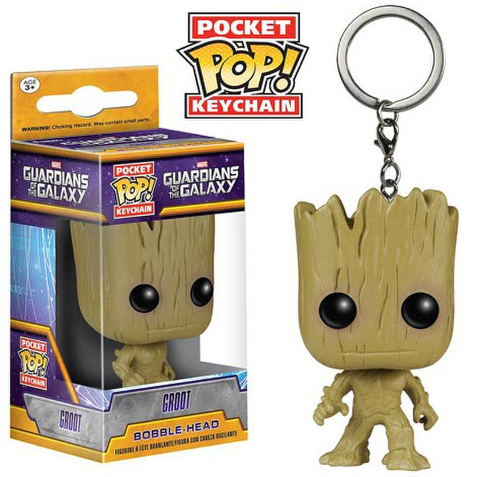Marvel Guardians Of The Galaxy Groot Pocket Pop! Vinyl Key Chain