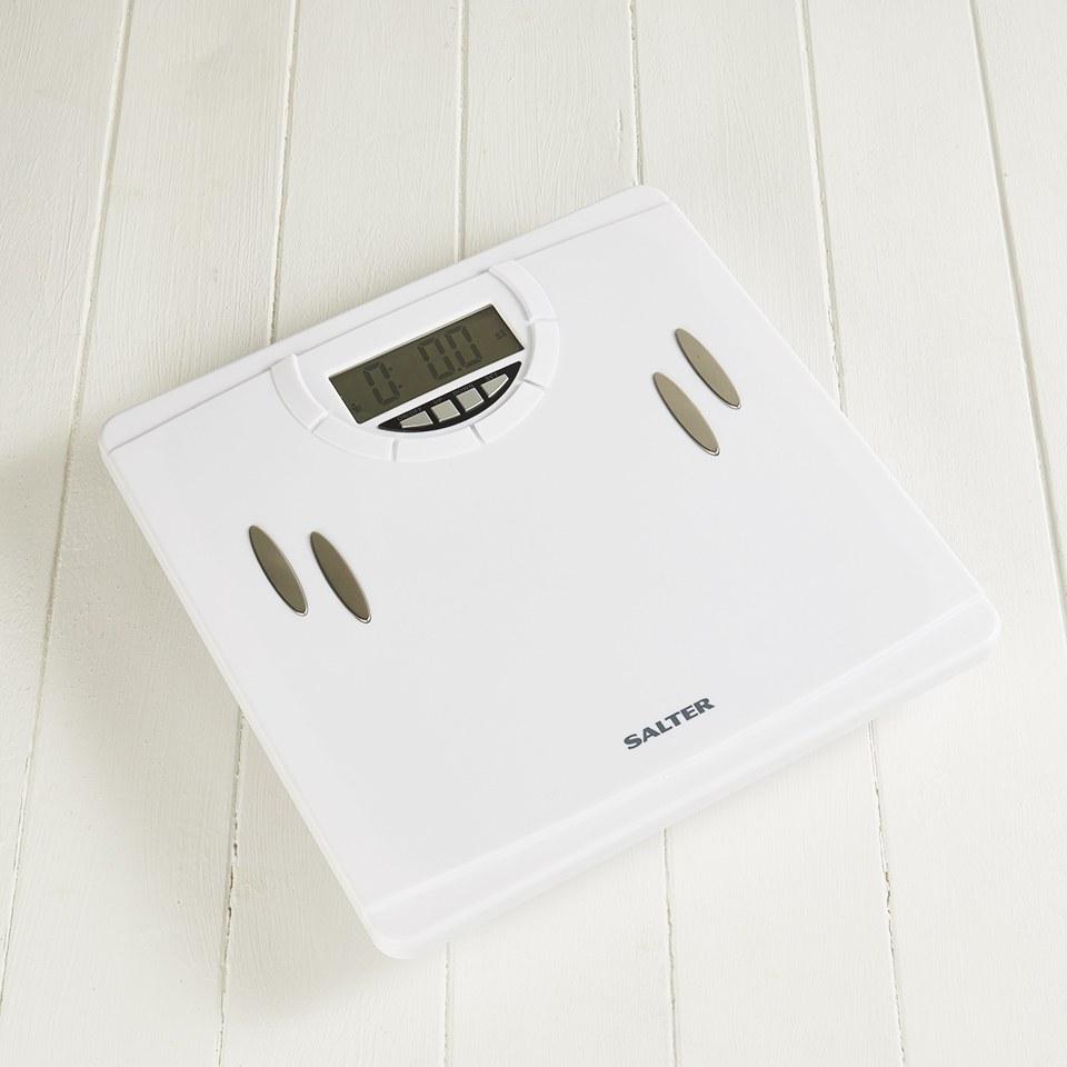 Salter Body Analyser Digital Bathroom Scales White Exante Uk