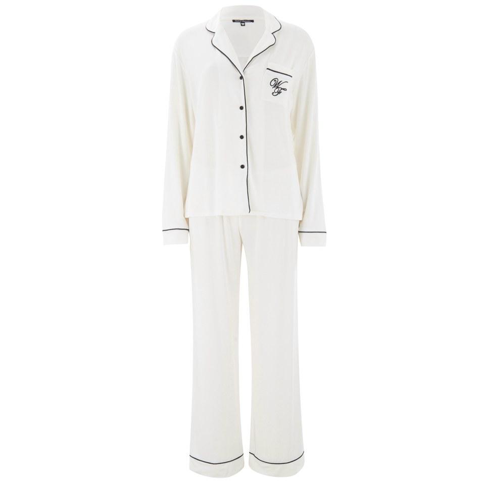 Wildfox Christmas Pajamas.Wildfox Women S Christmas Morning Person 25th December Pyjama Set Vanilla