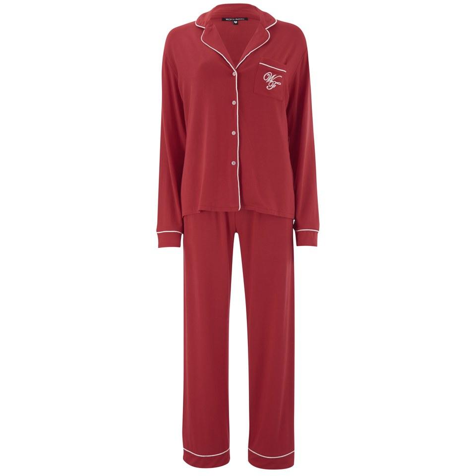 Wildfox Christmas Pajamas.Wildfox Women S Christmas Morning Person 25th December Pyjama Set Red