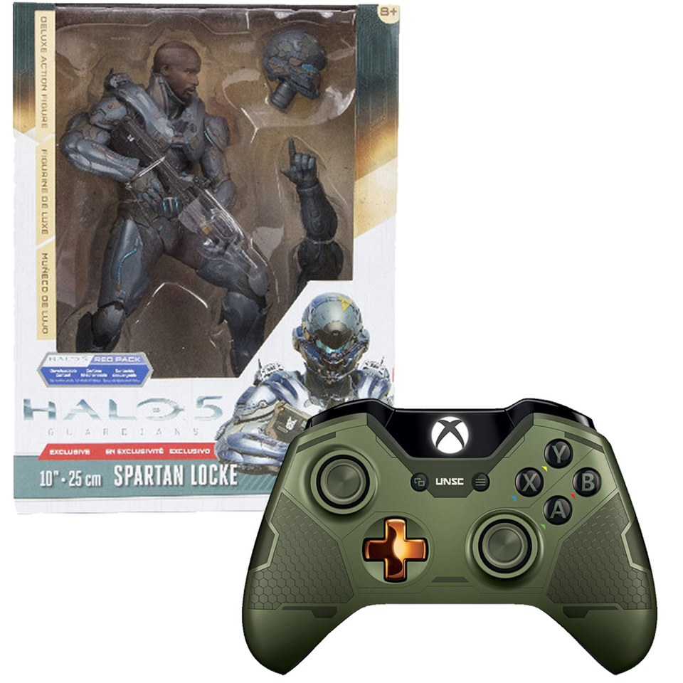 Limited Edition Halo 5 Guardians The Master Chief Wireless Controller Halo 5 Spartan Locke 10 Inch