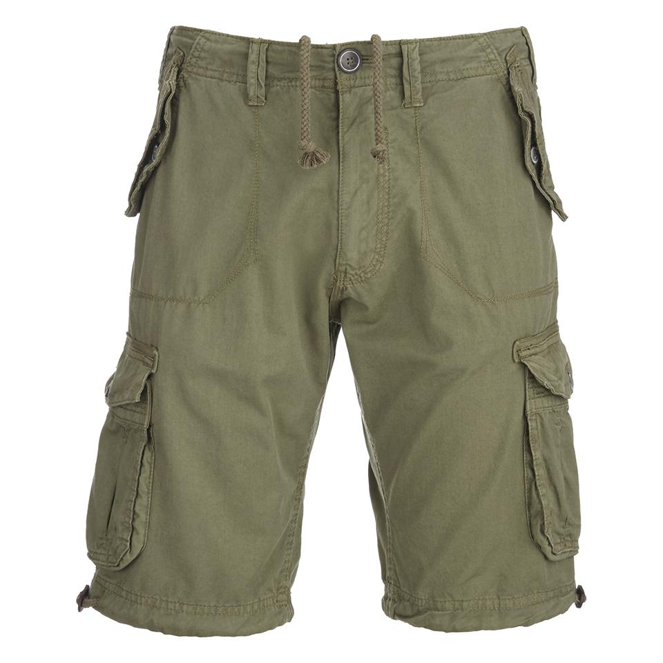 Brave Soul Men's George Cargo Shorts - Khaki Mens Clothing ...