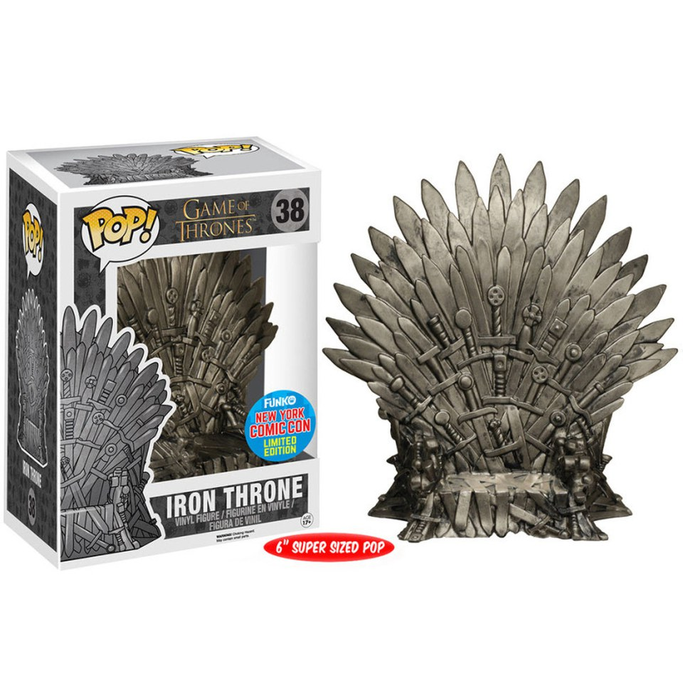 NYCC Game of Thrones The Iron Throne Exclusive 6 Inch Pop! Vinyl Figure
