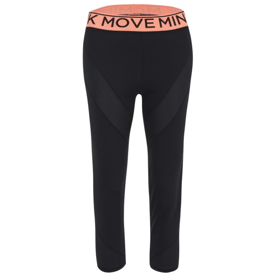 f220a74a7a3929 MINKPINK Women's Time to Move Leggings - Black/Neon Womens Clothing ...