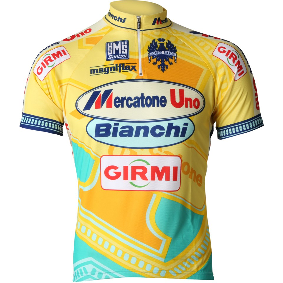 Santini Mercatone 15 Short Sleeve Jersey - Yellow  2bf11ab9e