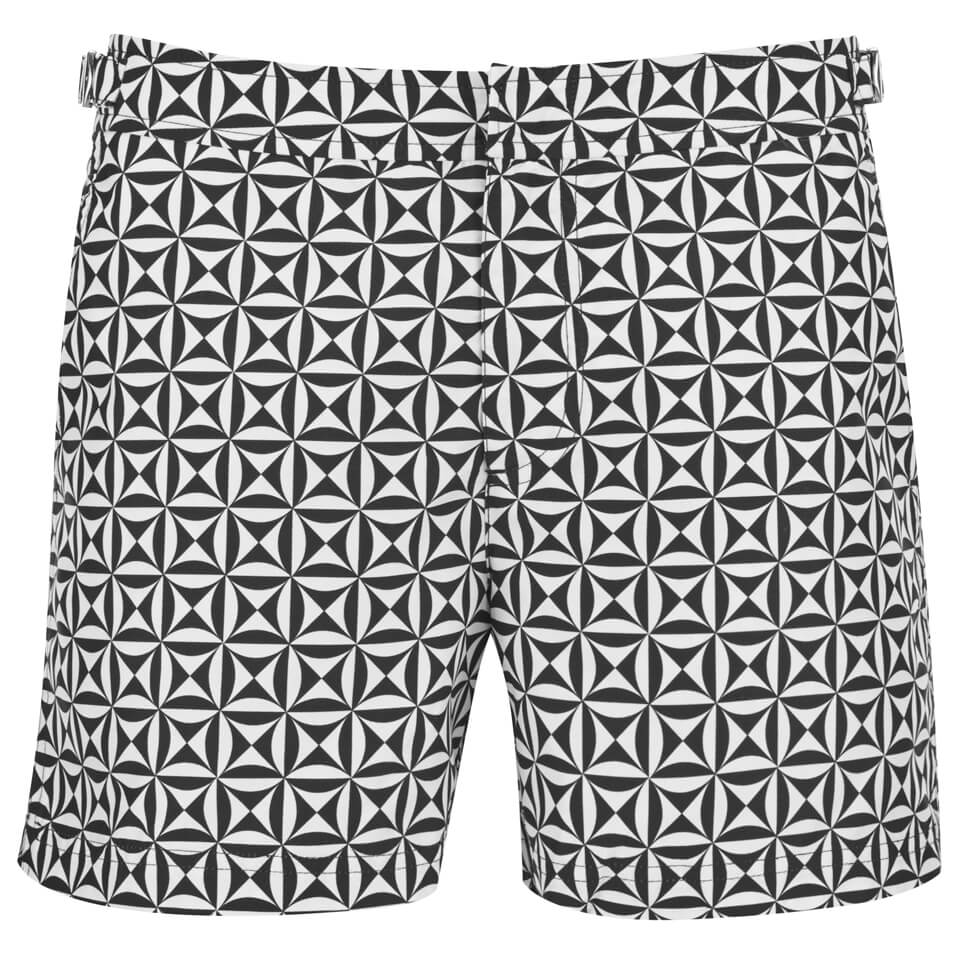 a4eb2b8f89 Orlebar Brown Men's Setter Tamanu Swim Shorts - Black - Free UK Delivery  over £50