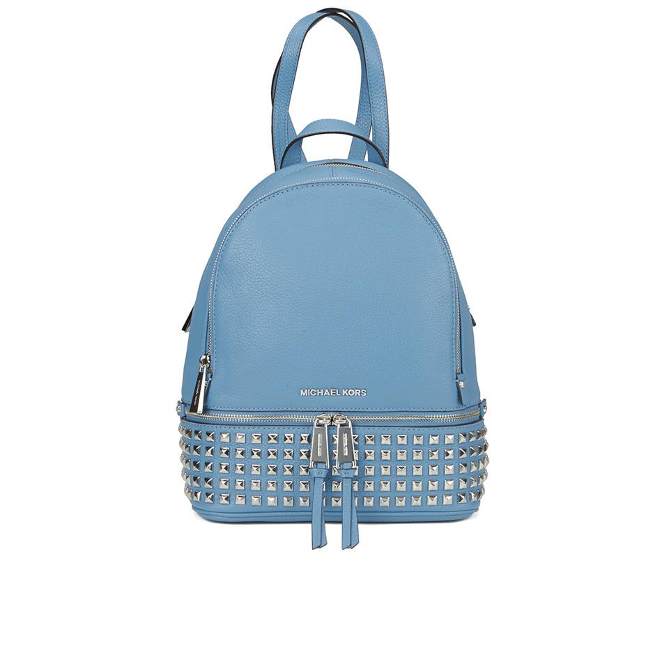 4abc8b8116 MICHAEL MICHAEL KORS Women s Rhea Zip Studded Backpack - Sky - Free ...