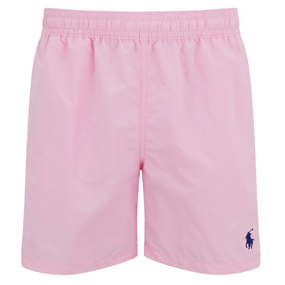 042967b3fee2d Polo Ralph Lauren Men's Hawaiian Swim Shorts - Carmel Pink - Free UK ...