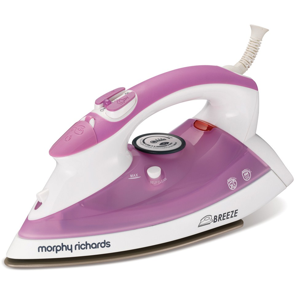 morphy richards 300204 breeze steam iron with ceramic sole. Black Bedroom Furniture Sets. Home Design Ideas