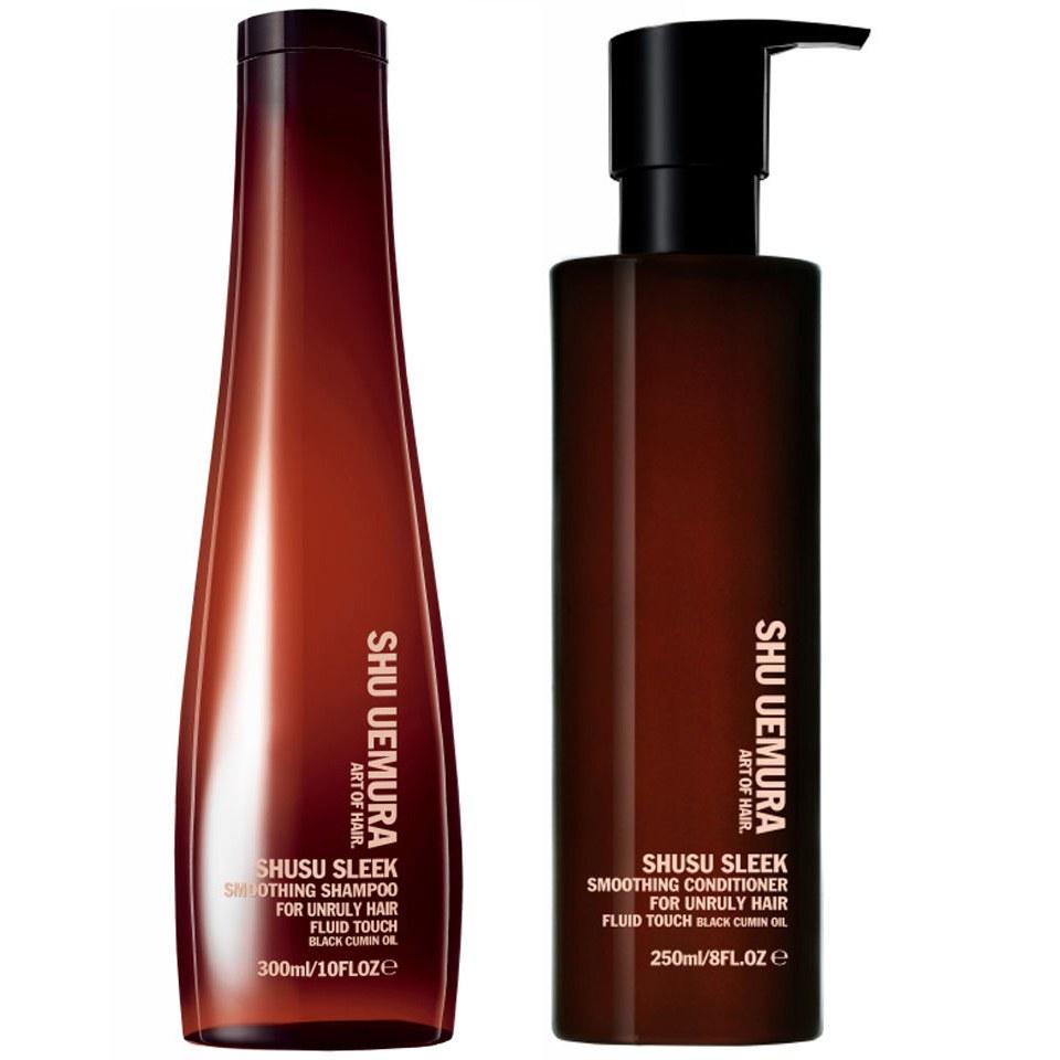 Shu Uemura Art Of Hair Shusu Sleek Shampoo 300ml And Conditioner