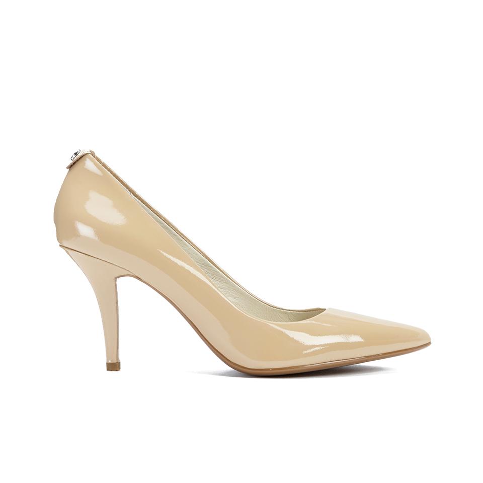 ad055f5920e0 ... MICHAEL MICHAEL KORS Women s MK-Flex Mid Pump Patent Court Shoes - Nude