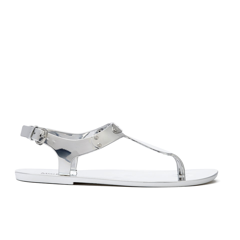 c1f3e17a0593 MICHAEL MICHAEL KORS Women s MK Plate Jelly Sandals - Silver - Free ...