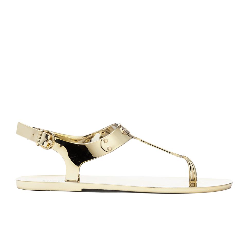 5c7d9601fe1 MICHAEL MICHAEL KORS Women s MK Plate Jelly Sandals - Gold - Free UK ...