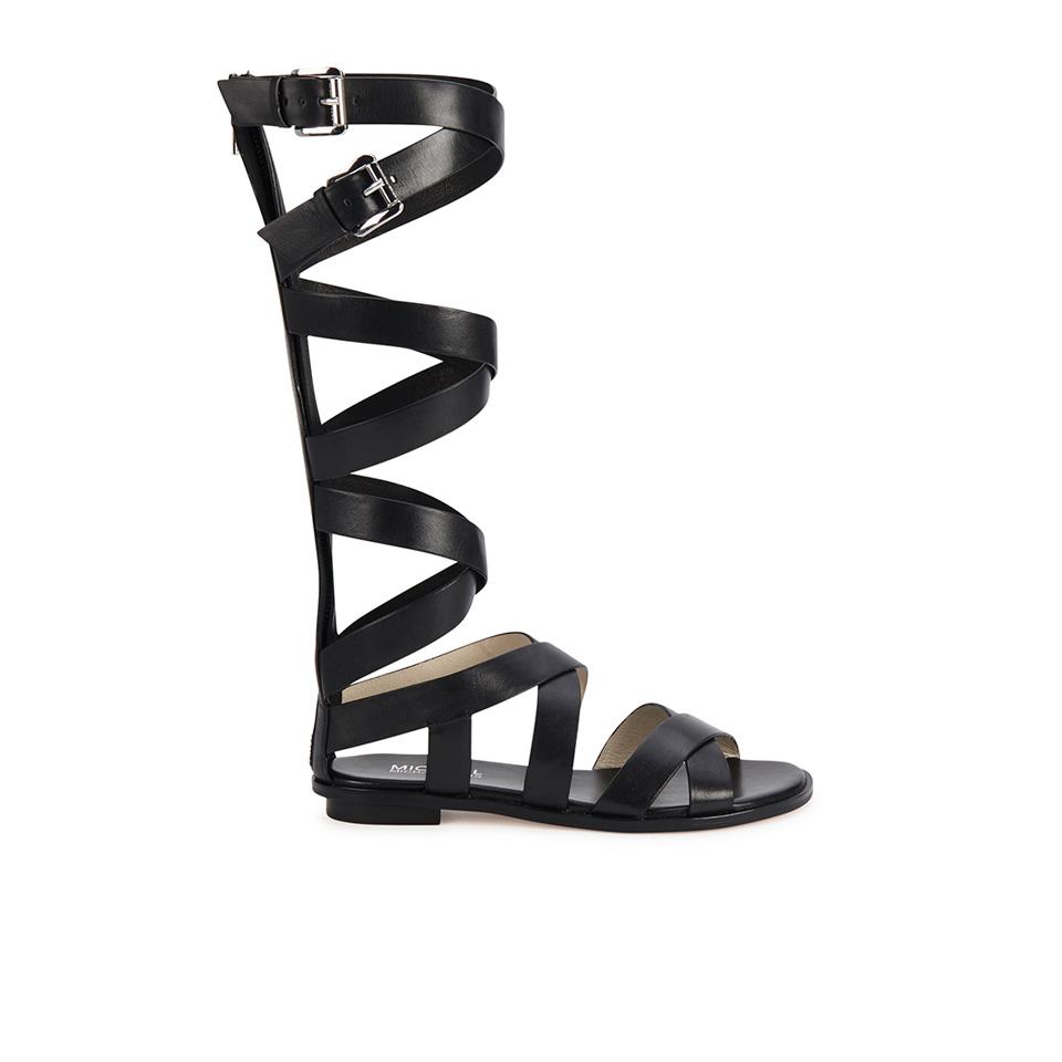 75081c5088f0 ... MICHAEL MICHAEL KORS Women s Darby Vachetta Knee High Gladiator Sandals  - Black