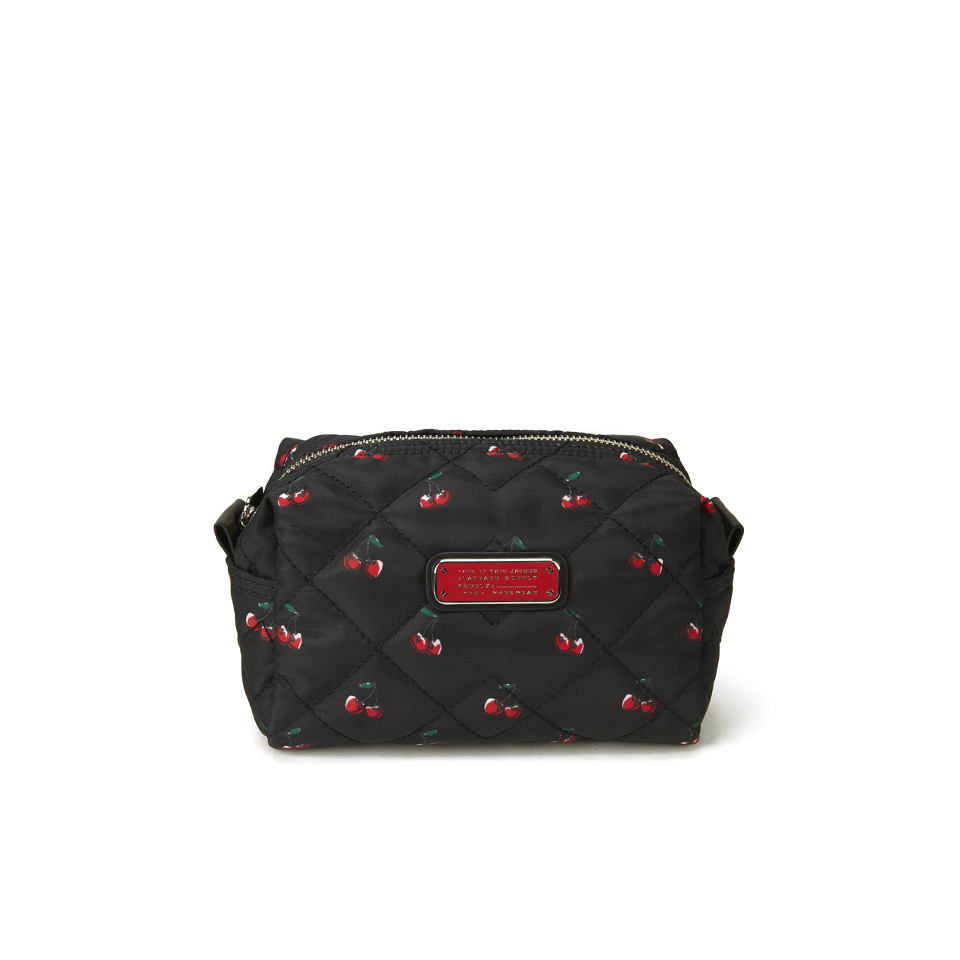 4e482826a804 ... Marc by Marc Jacobs Women s Crosby Quilted Nylon Large Cosmetic Bag -  Cherry Print Black