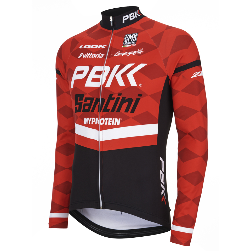 Pbk Santini Replica Team Long Sleeve Jersey Red White